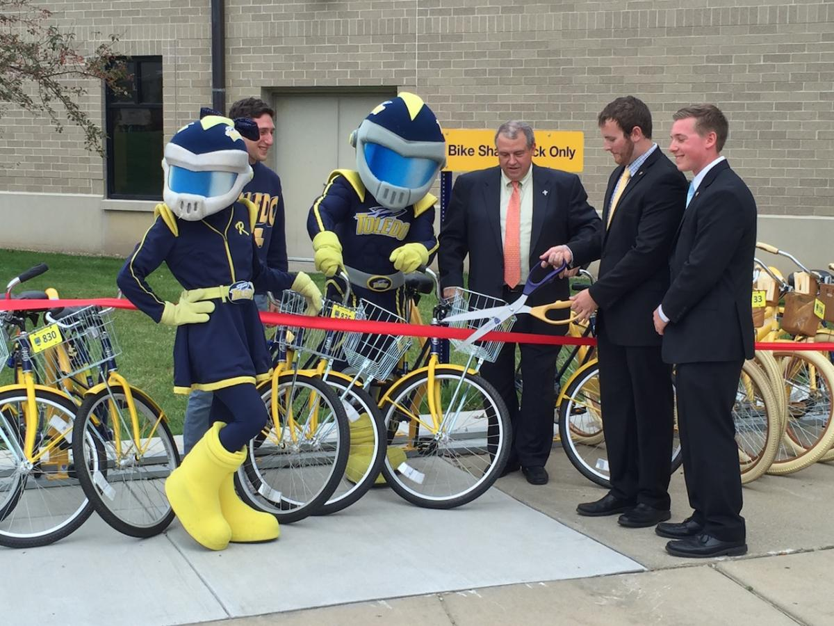 UT Bike Share Ribbon Cutting
